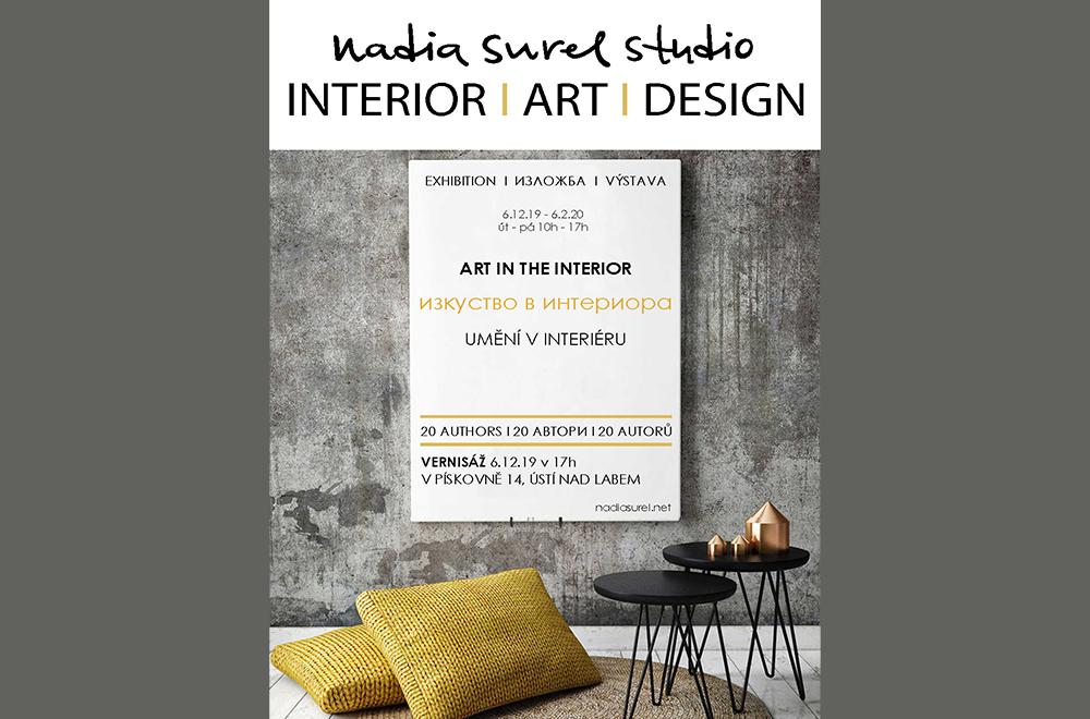 Výstava umění v interiéru